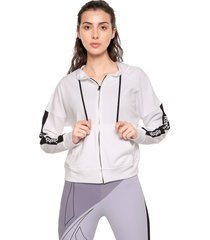 chaqueta blanco-negro reebok essentials linear