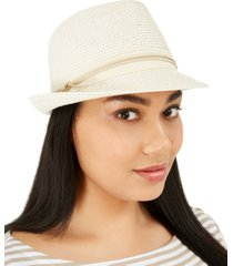 nine west classic braid fedora with grosgrain band