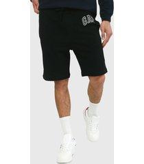 pantaloneta negro-gris gap