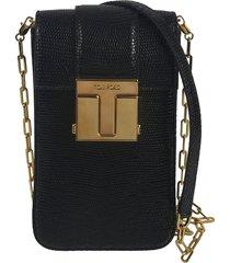 logo plaque flap phone chain shoulder bag