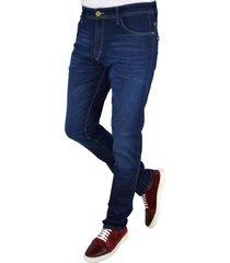 jean azul pato pampa con recorte cuero
