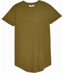 mens avocado green longline t-shirt