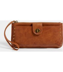 maurices womens cognac studded wristlet brown