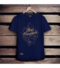 koszulka męska ahoj przygodo ciemnoniebieska