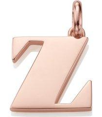 alphabet pendant z, rose gold vermeil on silver