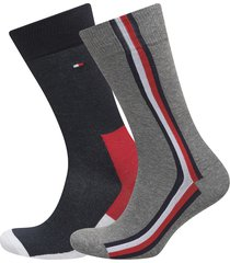 th men iconic hidden sock 2p underwear socks regular socks grå tommy hilfiger