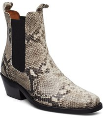 booties 3696 shoes boots ankle boots ankle boot - heel beige billi bi