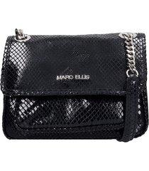 marc ellis rubye l shoulder bag in black leather