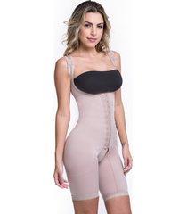 cinta modeladora macaquinho pã³s cirãºrgico corselet short alta compressã£o  biobela 1604 - bege - feminino - poliamida - dafiti