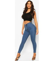 high rise disco jeans, middenblauw