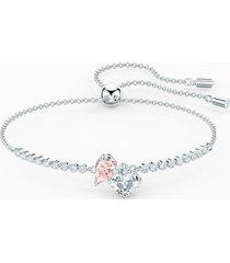 braccialetto attract soul, rosa, placcato rodio