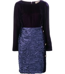 mila schon vintage 1980 boat neck dress - purple