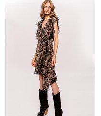 sukienka asymetryczna midi