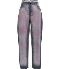 alberta ferretti gradient denim jeans