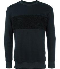matiéres textured stripe sweatshirt - blue