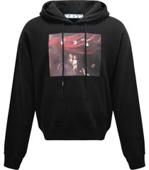 off-white sprayed caravaggio over hoodie