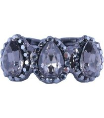 anel armazem rr bijoux mini gotas grafite