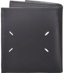 maison margiela signature logo trifold wallet