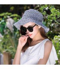 sombrero para mujer, hecho a mano paja ganchillo sra. han-