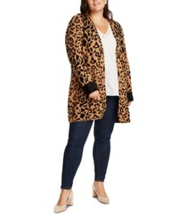 1.state trendy plus size animal-print cardigan
