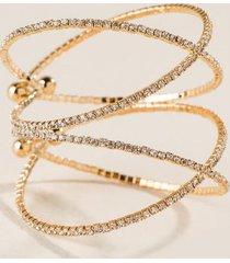 jillian pavé criss cross bracelet in gold - crystal