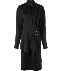 proenza schouler top stitched shirt dress - black