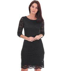 womens stella 3 quarter sleeve lace dress