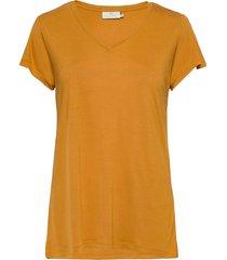 anna v-neck t-shirt t-shirts & tops short-sleeved gul kaffe