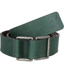 cinturón cuero verde panama jack
