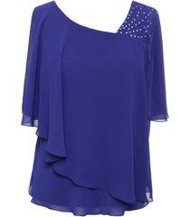 alex evenings petite embellished popover blouse