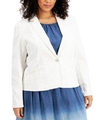inc plus size denim blazer, created for macy's