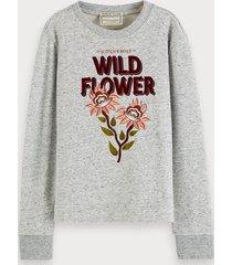 scotch & soda crew neck sweatshirt with combination artwork