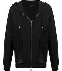 hoodie zip-up jacket, black