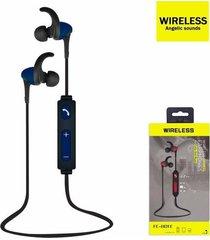 audífonos bluetooth, fe-801e deportivo auricular - azul