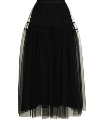 molly goddard lottie tiered tulle skirt - black