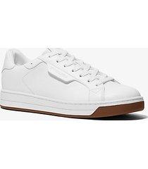 mk sneaker keating in pelle - bianco ottico (bianco) - michael kors