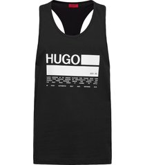 binalong t-shirts sleeveless svart hugo