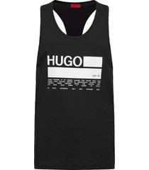 binalong t-shirts sleeveless svart hugo