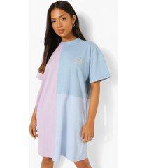 petite colour block t-shirtjurk, lilac