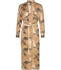 colby dress knälång klänning brun nü denmark