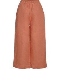 lilja linen culottes wijde broek oranje r-collection