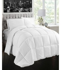creative living solution white goose feather and down cotton case comforter, queen size