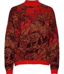 jers halifax stickad tröja röd desigual