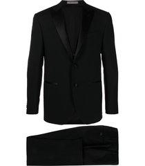 corneliani evening three-piece suit - black