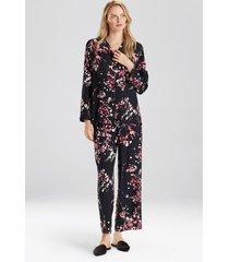 natori matsuri pajamas, women's, black, size l natori