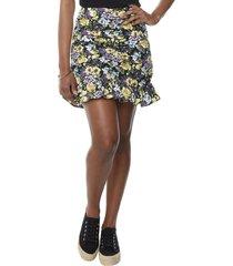 falda recogida volantes flores lila mujer corona