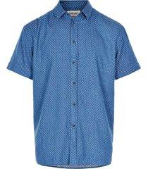 anerkjendt overhemd blauw met print 9220019/3052