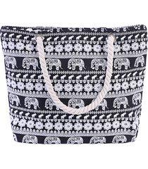 borsa a tracolla con stampa elefante in tela da donna borsa