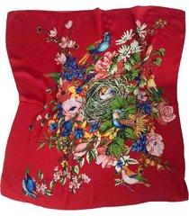 pañuelo rojo nuevas historias  pájaros con nido ba662-19