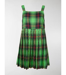 marco de vincenzo tartan flared mini dress